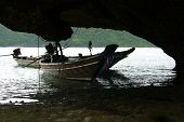 Boats In A Cave
