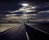 Umweltverschmutzung, globale Erwärmung und der Weg zum Stadtbild mit lightning
