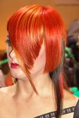 red coiffure