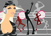 vector image of disco party. good use like background for party cards and posters