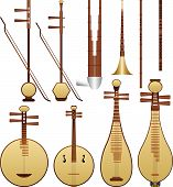 image of piccolo  - Layered vector illustration of different kinds of Chinese Musical Instruments - JPG