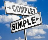 complex or simple the easy or the hard way decisive choice challenge making choice complicated road  poster