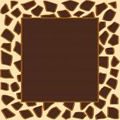 Animal giraffe print frame