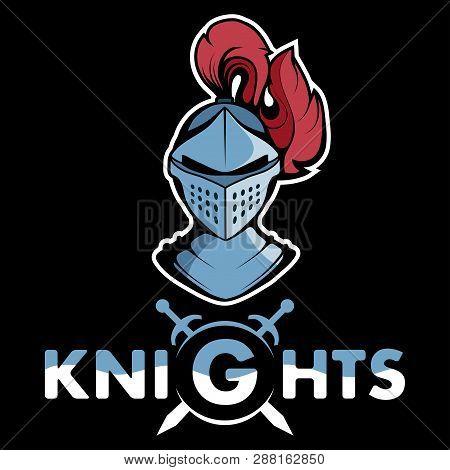 Knight Head Mascot Logo Vector