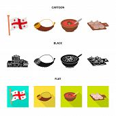 Isolated Object Of Culture And Sightseeing Icon. Set Of Culture And Originality Stock Symbol For Web poster