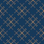 Vector Geometric Seamless Pattern. Simple Background With Small Squares, Crosses, Grid, Repeat Tiles poster