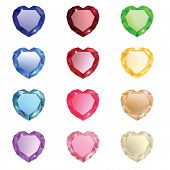 The Collection Of Jewel Hearts