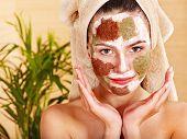 Natural homemade clay  facial masks at home .