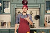 Make It Easy. Relax Put On Some Music. Composed Cook Is More Efficient One. Man Chef Likes To Cook I poster