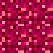 Seamless Pattern For Glitter Effect Or For Creation  Effect Of  Pixilation In Red Magenta.  For Back poster