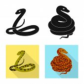 Vector Illustration Of Mammal And Danger Symbol. Set Of Mammal And Medicine Vector Icon For Stock. poster