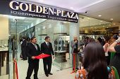 MOSCOW - APRIL 28: The opening of first in Russia specialized Jewelry Trade Center Golden-Plaza in shopping center Monarch, on April 28, 2011 in Moscow, Russia. more than 1300 sq.m.