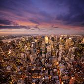 Big Apple após o pôr do sol - manhattan de nova york à noite