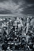 image of new york night  - New york skyline - JPG