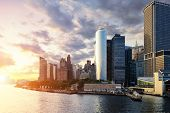pic of highrises  - New York city manhattan - JPG
