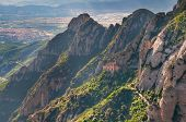 Montserrat mountains in Catalonia, Spain