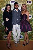 LOS ANGELES - JAN 8:  Dorian Brown; Jason Gann; Fiona Gublemann at the FOX All Star Winter TCA Party at Castle Green on January 8, 2012 in Pasadena, California.