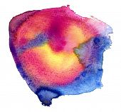 colorful watercolor stain (isolated)