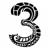 number ornament - 3 -