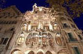 BARCELONA, SPAIN - DECEMBER 10: Casa Batllo in Barcelona, Spain on December 10, 2011 was created by