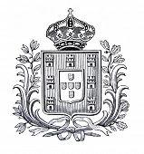 das alte Wappen Polens. Stich von Alwin Zschiesche veröffentlicht am
