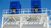 The Tank With Water And A Ladder. Oil Refinery. Equipment For Primary Oil Refining. Water Cooling To poster