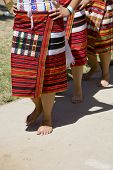pic of ifugao  - Line of women performing a traditional Ifugao  - JPG