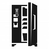 Large Fridge With Open Door Icon Icon. Simple Illustration Of Large Fridge With Open Door Icon Icon  poster
