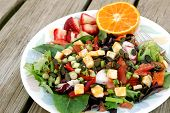 Colorful Salad With Fruit