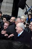 PARIS - JANUARY 8: Jean Marie Le Pen former president of the front national party gives a press conf