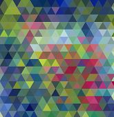 Multi-color Geometric Triangular Low Poly Low Poly Style. Gradient Background. poster
