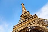 View Of The Eiffel Tower In Paris. France. The Eiffel Tower Was Constructed From 1887-1889 As The En poster
