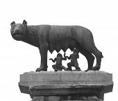 Capitoline Wolf Is A Bronze Sculpture Depicting A Scene From The Legend Of The Foundation Of Rome Wi poster