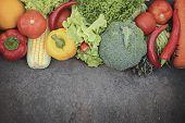 Fresh Organic Vegetables. poster