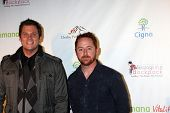 LOS ANGELES - JAN 12:  Bob Guiney, Scott Grimes. arrives at  the Los Angeles Derby Prelude Party at