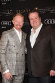 LOS ANGELES - JAN 14:  Jesse Tyler Ferguson, Eric Stonestreet arrives at  the BAFTA Award Season Tea