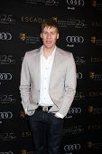 LOS ANGELES - JAN 14:  Dustin Lance Black arrives at  the BAFTA Award Season Tea Party 2012 at Four