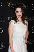 LOS ANGELES - JAN 14:  Emilia Clarke arrives at  the BAFTA Award Season Tea Party 2012 at Four Seaon