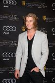 LOS ANGELES - JAN 14:  Chris Hemsworth arrives at  the BAFTA Award Season Tea Party 2012 at Four Sea