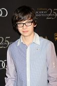 LOS ANGELES - JAN 14:  Asa Butterfield arrives at  the BAFTA Award Season Tea Party 2012 at Four Sea