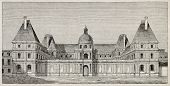 Luxembourg palace old view, Paris. By unidentified author, published on Magasin Pittoresque, Paris,