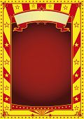 red and yellow circus poster. A new circus background for your advertising