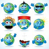 Funny Cartoon Planet Earth