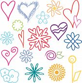 Notebook Doodles: Hearts And Flowers (1)