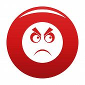 Angry Smile Icon. Vector Simple Illustration Of Angry Smile Icon Isolated On White Background poster
