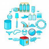 Beachwear Icons Set. Cartoon Set Of 25 Beachwear Vector Icons For Web Isolated On White Background poster