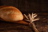 Fresh Homemade Bread. Crisp. Bread At Leaven. Unleavened Bread. Dietary Bread poster