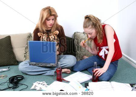 Children Doing Homework Together poster