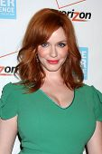 LOS ANGELES - OCT 26:  Christina Hendricks arrives at the 41st Annual Peace Over Violence Humanitari