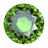 stock photo of peridot  - Round Gemstone isolated - JPG